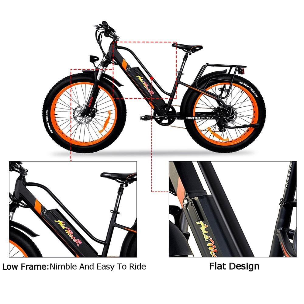 Full Suspension Fat E-Bike Addmotor MOTAN M-450 P7 Electric Bike 750W