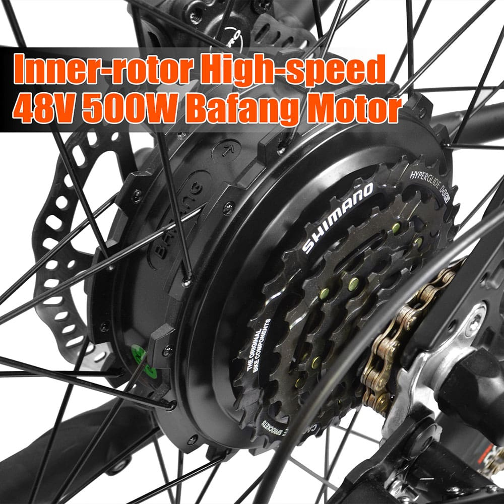 Electric Mountain Bike Addmotor HITHOT H1 Platinum 500W Full Suspension