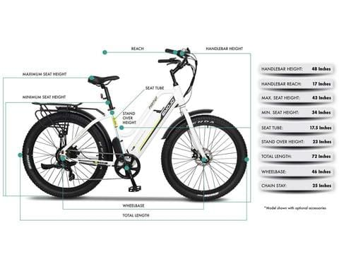 Electric Bike Beach Cruiser EMOJO Panther 500 Watt 48V