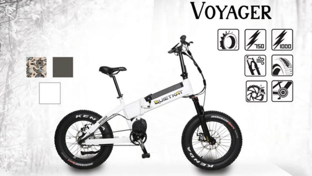 Electric Mountain Bike QuietKat Voyager Fat Tire Bike - 750/1000W (2019)