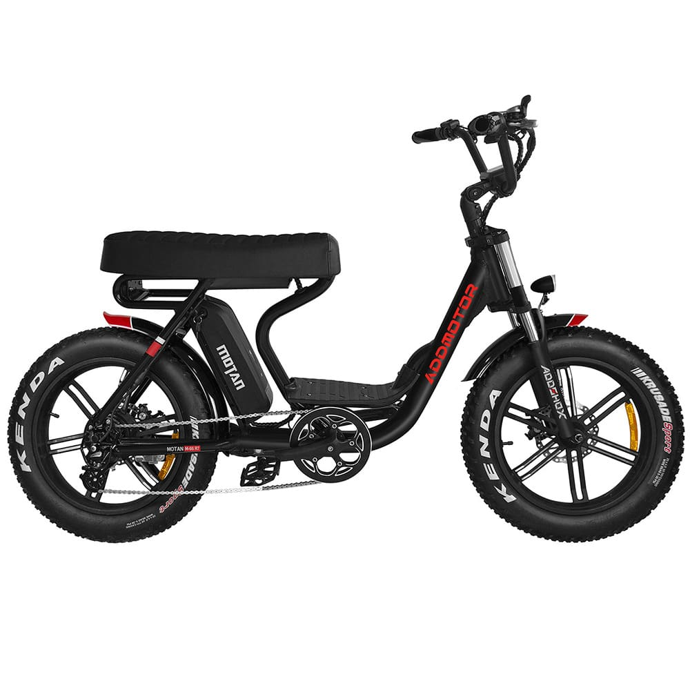 Electric Fat Bike Mini Moped Motorbike MOTAN M-66 R7 Step-Thru (Free Rear Rack)