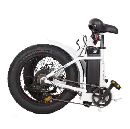 Electric Fat Bike - Ecotric Dolphin Folding Electric Bike - 36V 500W (Black / White)