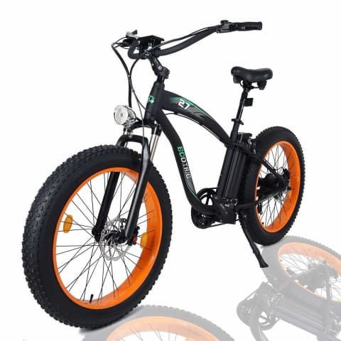 "ECOTRIC Hammer Fat Tire 1000W 48V 26"" Beach Snow Electric Bike Orange New"