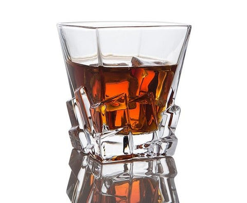The Mountain Peak Whiskey Glass