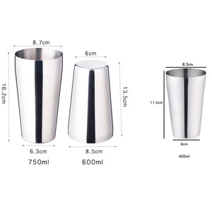 Cocktail Shaker Dimensions