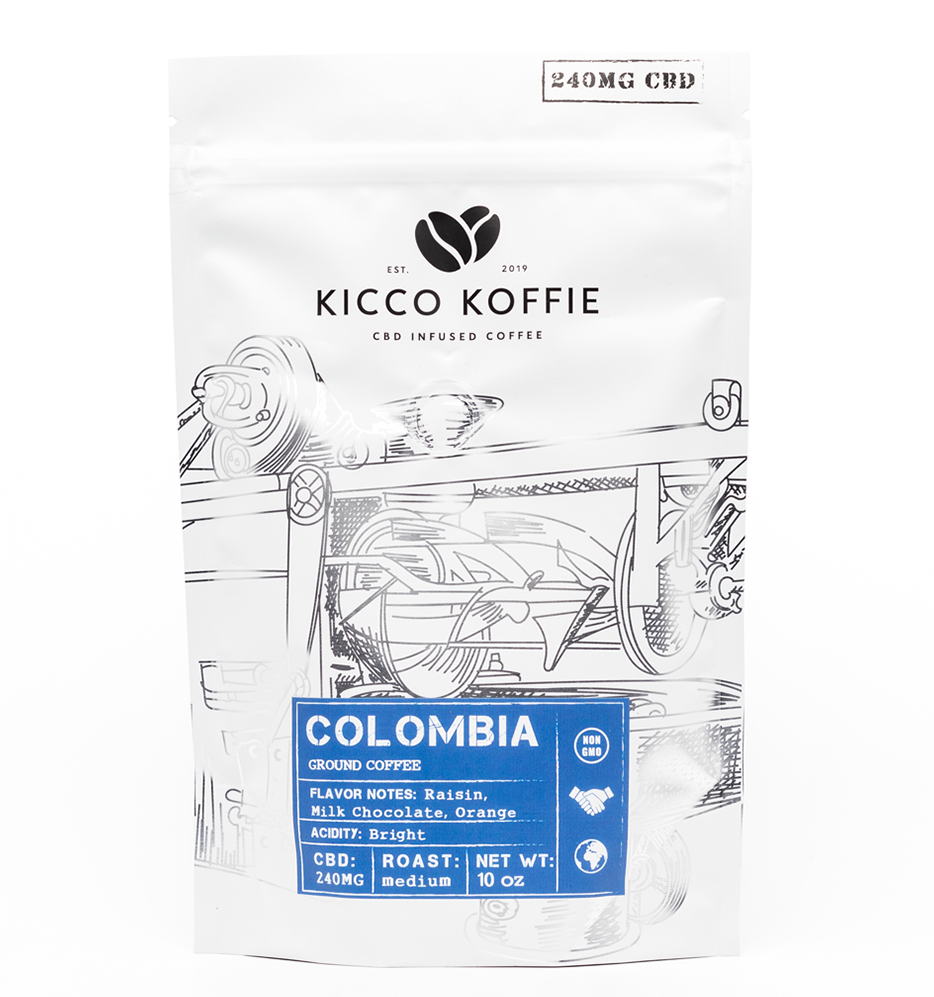 Colombia Single Origin CBD Coffee (240mg CBD)