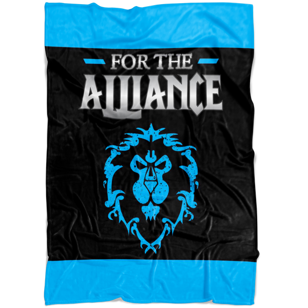 "World of Warcraft ""For the Alliance"" Fleece Blanket"