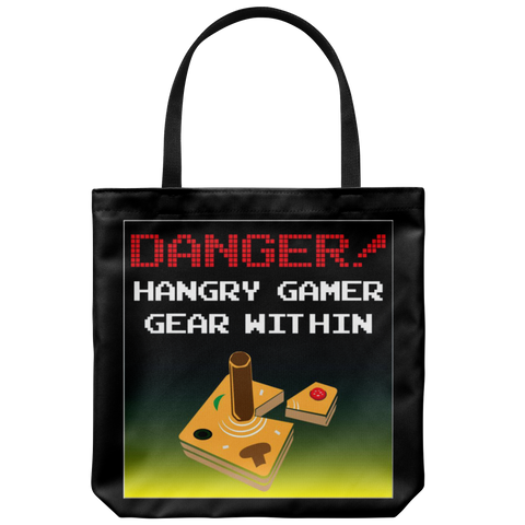 Danger, Hangry Gamer Gear Within Tote Bag