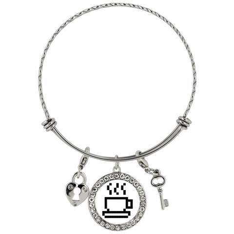 Coffee Lovers Pixel Art Chloe Bracelet