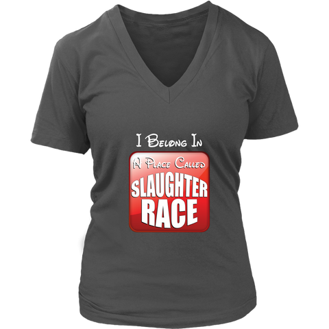 Ralph Breaks the Internet Slaughter Race Women's V-Neck T-Shirt