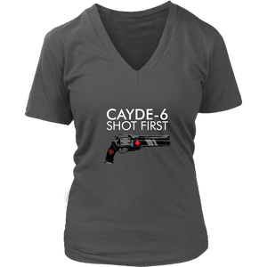Destiny Cayde-6 Shot First Women's V-Neck T-Shirt