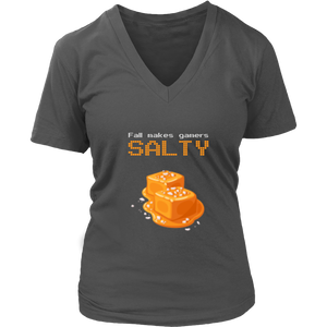 Fall Makes Gamers Salty Women's V-Neck T-Shirt