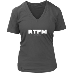 RTFM Women's V-Neck T-Shirt