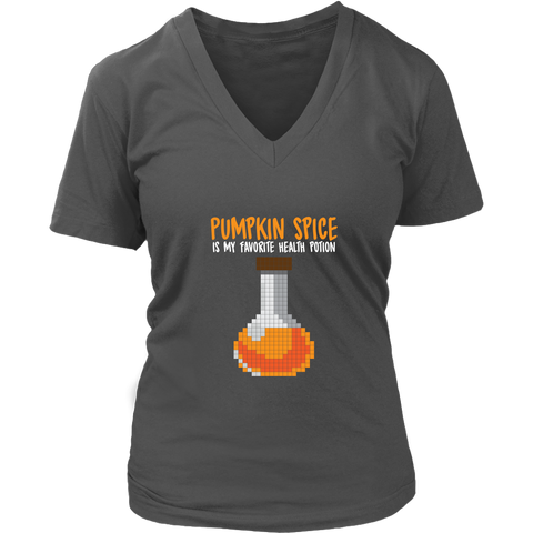 Pumpkin Spice Flavored Health Potion Women's V-Neck T-Shirt