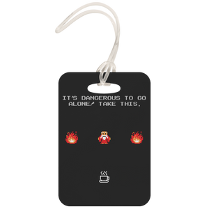 It's Dangerous To Go Without Coffee Metal Luggage Tag