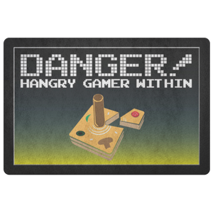 Danger - Hangry Gamer Within Doormat
