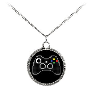 Pixel Art Xbox Gaming Fan Deco Coin Necklace