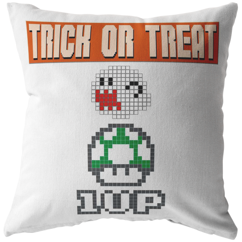 Trick or Treat Retro Gaming Pillow