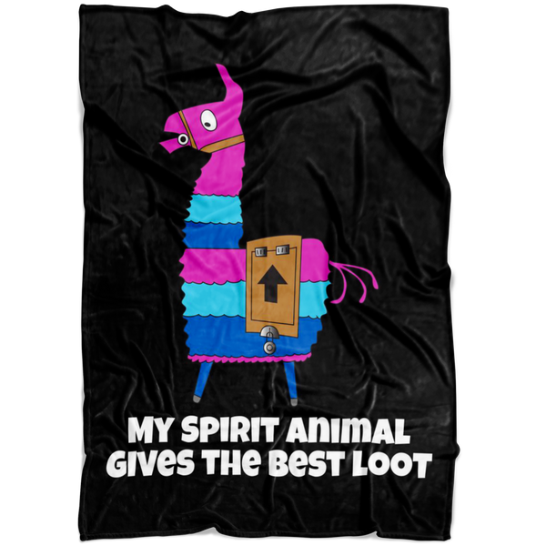 Fortnite Loot Llama Fleece Blanket
