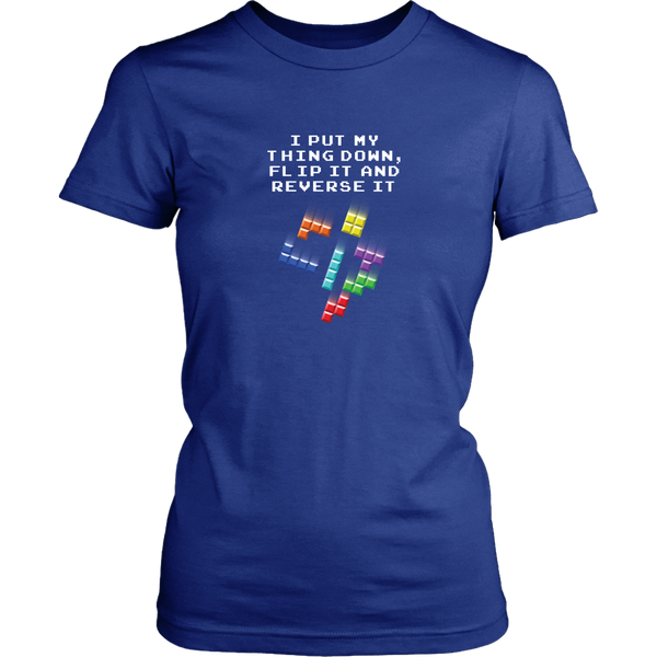 Tetris Falling Blocks Put My Thing Down Women's T-Shirt