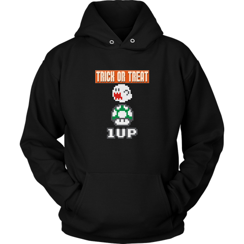 Trick or Treat Retro Gaming Hoodie