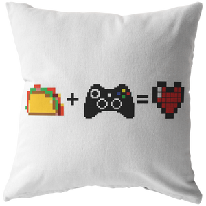 Food + Gaming = Love (Xbox Edition) Pillow