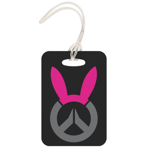 Overwatch D.Va Bunny Logo Metal Luggage Tag