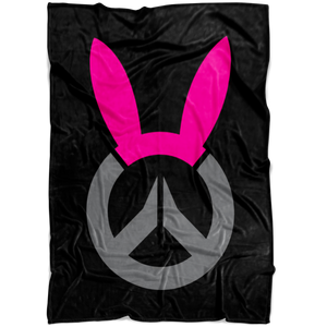 Overwatch D.Va Bunny Logo Fleece Blanket