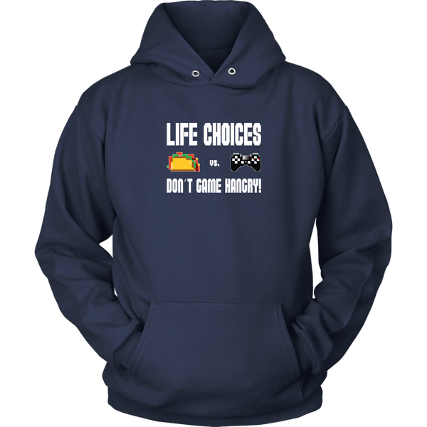Life Choices - Food Vs Gaming (Playstation Edition) Hoodie