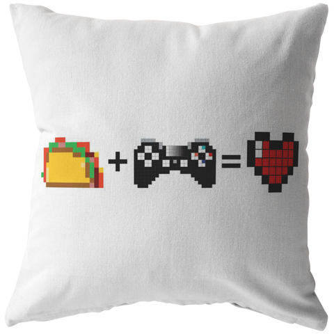 Food + Gaming = Love (Playstation Edition) Pillow