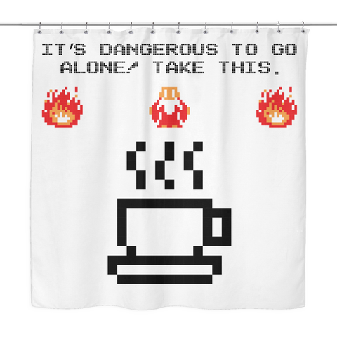 It's Dangerous To Go Without Coffee Shower Curtain
