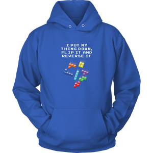 Tetris Falling Blocks Put My Thing Down Hoodie