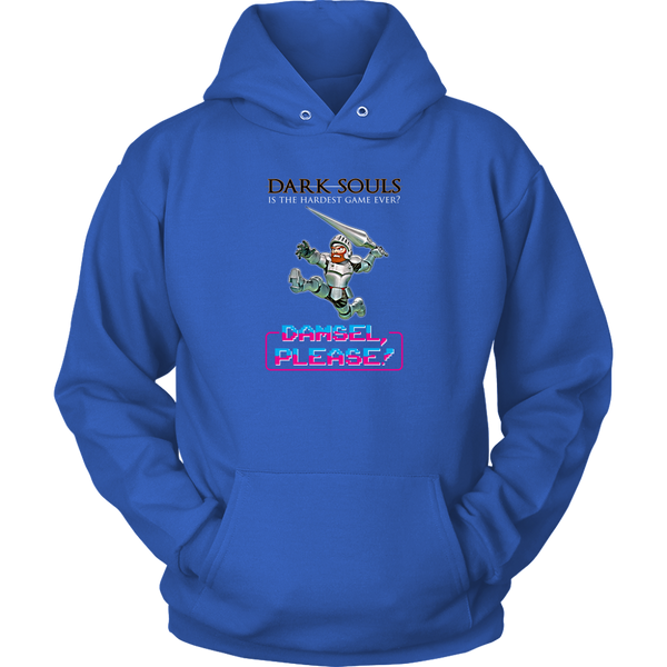 Dark Souls is Weaksauce (Damsel, Please!) Retro Gaming Hoodie