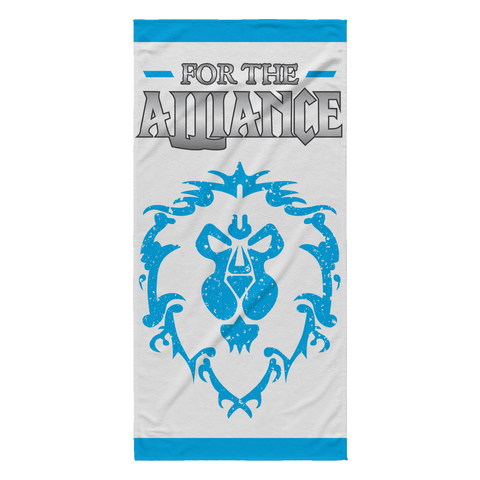 "World of Warcraft ""For the Alliance"" Beach Towel"