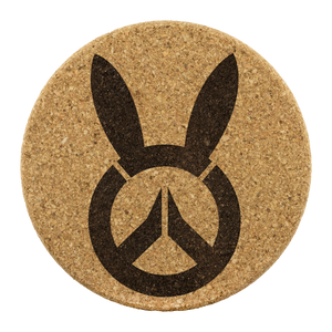 Overwatch D.Va Bunny Logo Cork Coaster 4pc Set