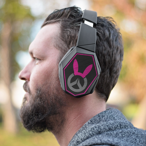 Overwatch D.Va Bunny Logo Wrapsody Bluetooth Headphones