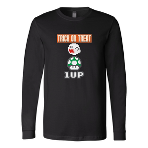 Trick or Treat Retro Gaming Long Sleeve Shirt