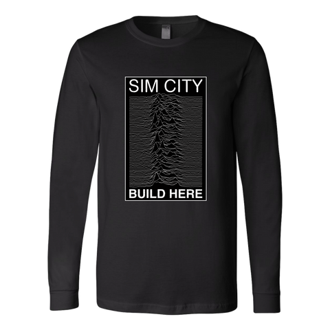 Joy Division Realm in Sim City Long Sleeve Shirt