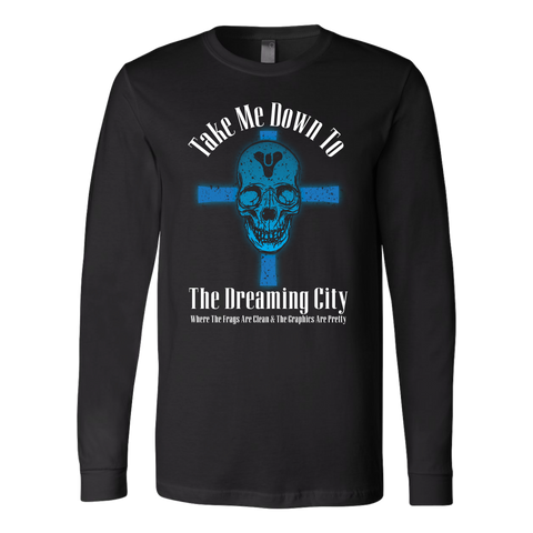 Destiny Dreaming City 80's Style Long Sleeve Shirt