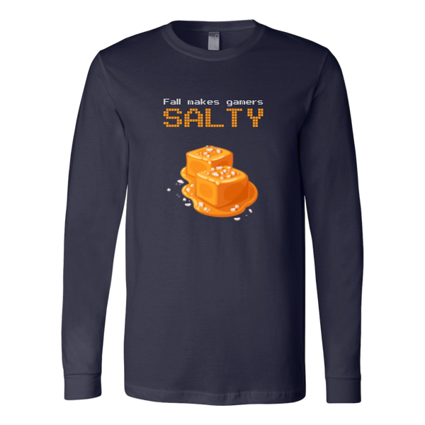 Fall Makes Gamers Salty Long Sleeve Shirt