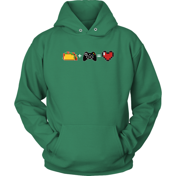 Food + Gaming = Love (Xbox Edition) Hoodie