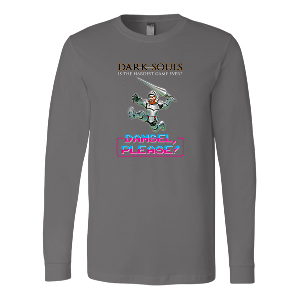 Dark Souls is Weaksauce (Damsel, Please!) Retro Gaming Long Sleeve Shirt