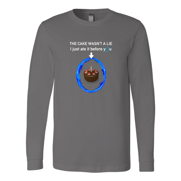 Portal The Cake Is Not a Lie Long Sleeve Shirt