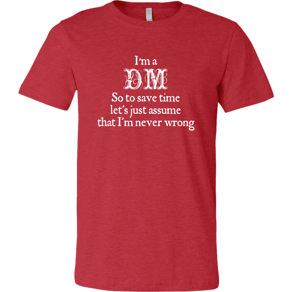 Dungeons and Dragons DM Snob Men's T-Shirt