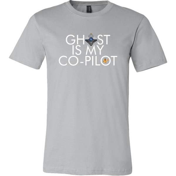 Ghost is my Co-Pilot (Small Ghost) Men's T-Shirt