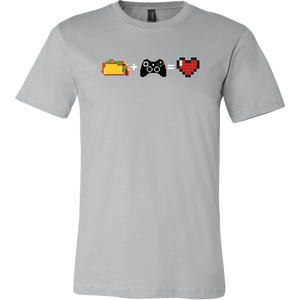 Food + Gaming = Love (Xbox Edition) Mens T-Shirt