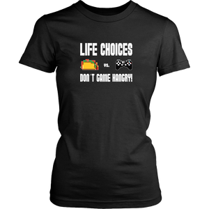 Life Choices - Food Vs Gaming (Playstation Edition) Women's T-Shirt