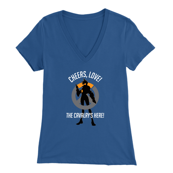 Overwatch Tracer Cheers Love Women's V-Neck T-Shirt