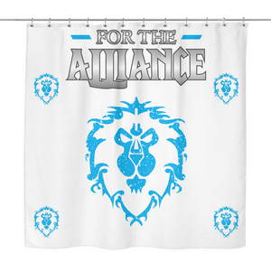 "World of Warcraft ""For the Alliance"" Shower Curtain"