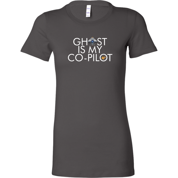 Ghost is my Co-Pilot (Small Ghost) Women's T-Shirt